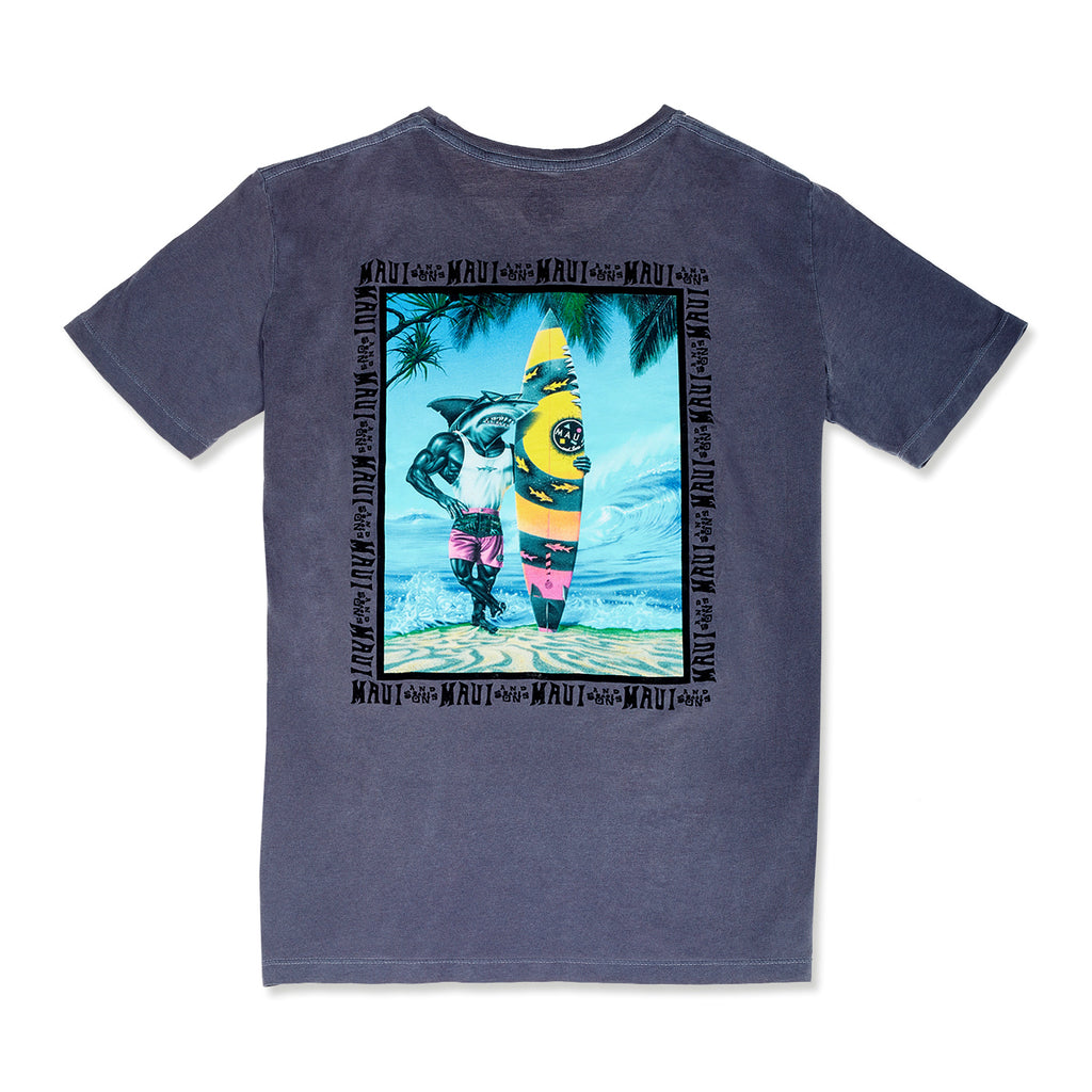 Sharkman On The Beach T-Shirts