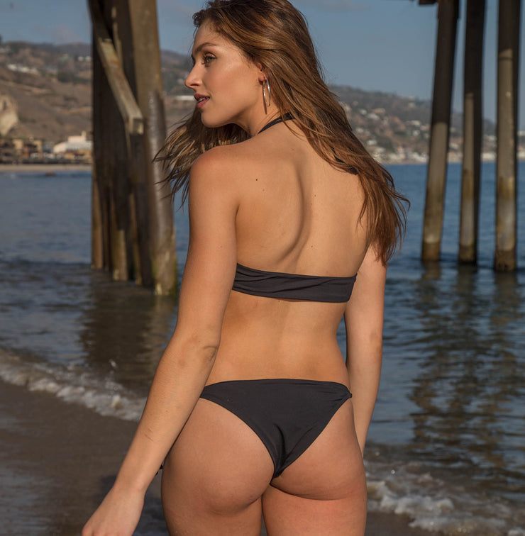 Huntington Tie-Side Bikini Bottom - Black