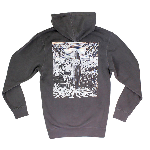 Still On The Beach Unisex Midweight Pigment Dyed Pullover Hoodie