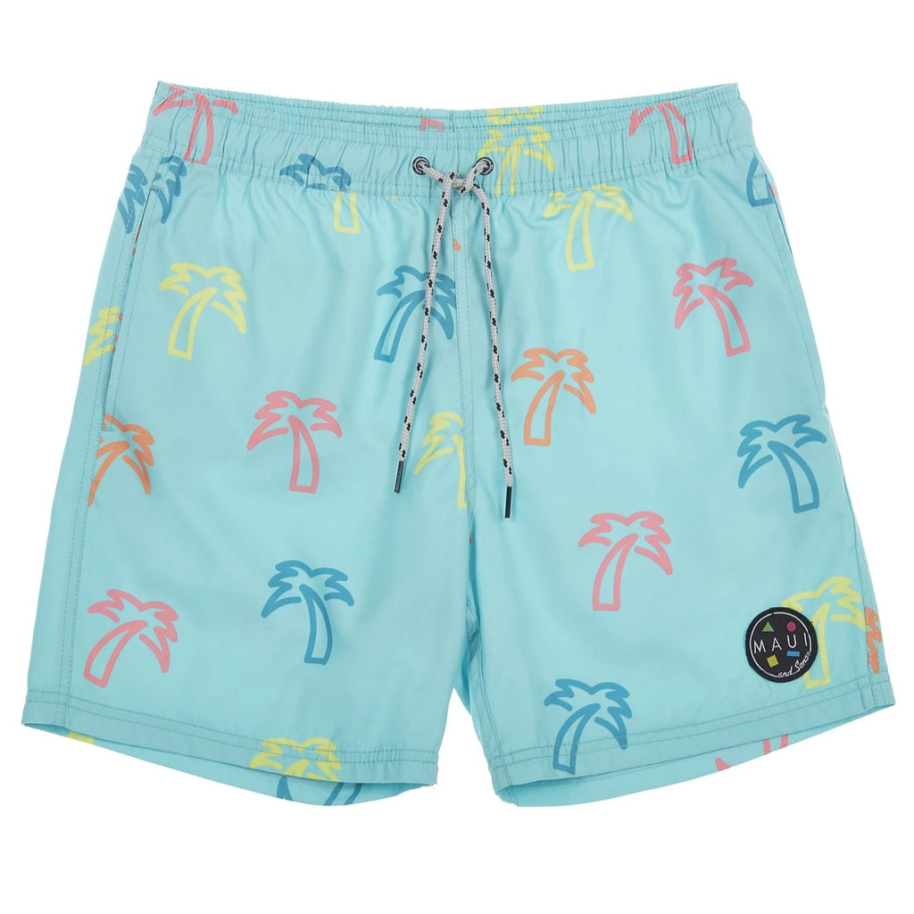 neon palm pool short front