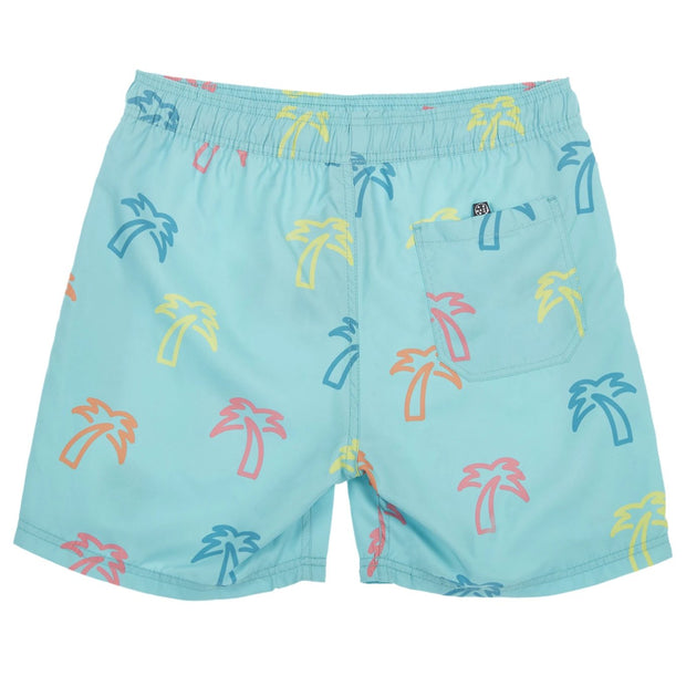 neon palm pool short (back)