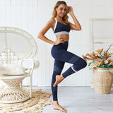 New Women Sports Active Wear Yoga Fitness Workout Set Jogging Suits Sport Bra Leggings