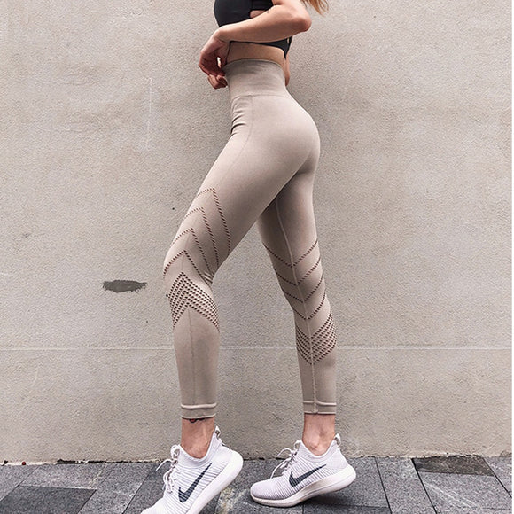 Women's Yoga Pants High Waist Fitness Gym Pants Seamless Leggings Sports Running Tights