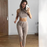 Women Yoga Set 2 Piece Gym Solid Vest + Pants Fitness Running Yoga Set Sports Suit Bra+Pant