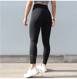 Women Yoga Pants High Elastic Sports Seamless Leggings Tights Sportswear Fitness Compression Slim