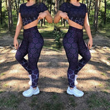 Women Gym Leggings Seamless Tummy Control Yoga Pants High Waist Sport Leggings Purple Running Pants