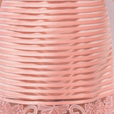 Women Dress High Quality Elegant Female Sheer Mesh Embroidery Striped Pattern Dress