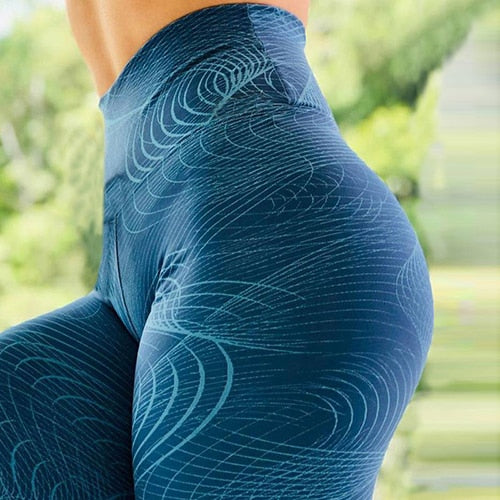 Women printed yoga leggings female sportswear Quick Dry Running Sport leggings