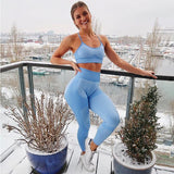 High Waist Seamless Patchwork Women Fitness Yoga Sport Leggings