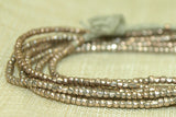 1.5mm Ethiopian silver color Heishi, antiqued