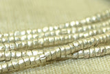 2mm Silver Ethiopian Heishi, New