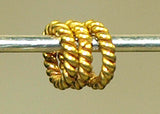 3mm Twisted Solid Gold Wire Jumpring