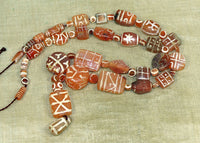 Rare and Ancient Carnelian Etched Beads