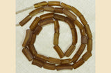 Antique Light Amber Colored Glass Beads