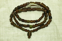 Ancient Afghan Dark Amber Glass Beads