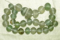 Old Afghan Green Glass Beads