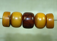 Set of Five German Amber Beads from Mauritania