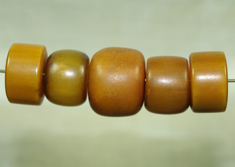 Five German Amber Beads from Mauritania