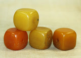 Four Antique Resin-Made Amber Cubes from Ethiopia