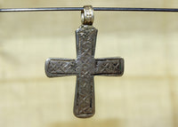 Antique Silver Cross from Ethiopia