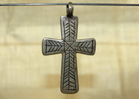 Rare Antique Silver Coptic Cross from Ethiopia