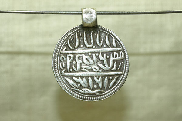Antique coin silver Pendant with Hindu blessings