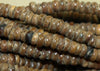 Strand of Small Bone Beads from Nigeria, West Africa