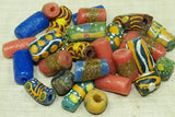 Bag of Recycled Glass Krobo Beads from Ghana