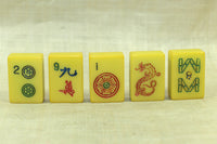 Set of 5 vintage bakelite Mahjong tiles