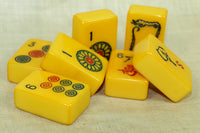 Set of Seven Vintage Bakelite Mahjong tiles