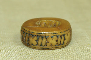 Vintage Pig Bone Ring from Papua New Guinea