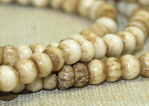 Strand of Small 3mm Bone Beads