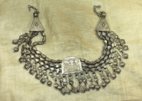 Incredible Vintage Silver Afghan Necklace