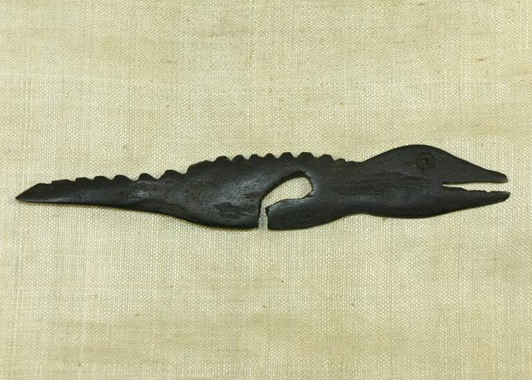 Black Palmwood Crocodile Pendant; Lou Zeldis Collection