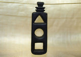 Black Palmwood Frame Pendant; Lou Zeldis Collection