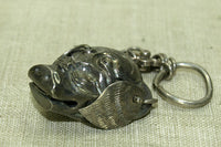 Old Silver Chinese Pig's Head Pendant
