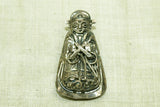 Antique Cáo of the 8 Immortals Silver Hat Amulet