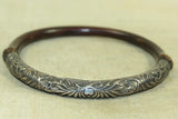 Antique Bangle, Silver and Bamboo from China