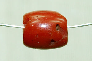 Natural Coral Yemen Bead, 6-7mm Long