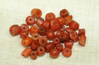 Mix Bag of Rare small Antique Nigerian Coral Beads