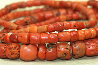Strand of Rare Antique Nigerian Coral Beads