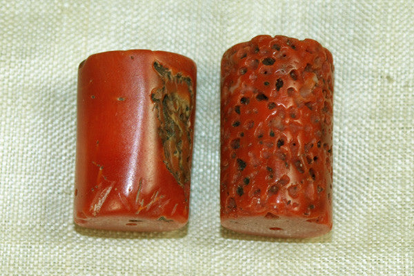 Large Antique Moroccan Coral Beads
