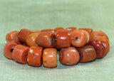 Strand of A1 Quality Antique Nigerian Coral Beads