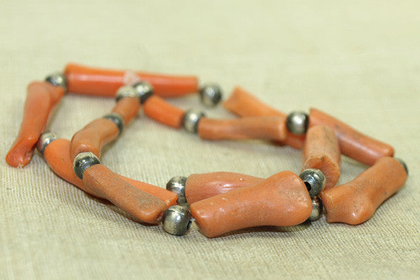 Strand of Moroccan Coral Beads