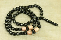 Antique Black Coral Yemen Prayer necklace