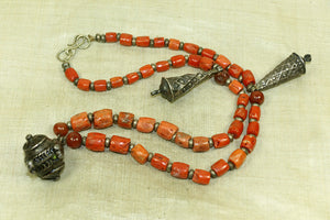 Lovely Coral and silver necklace from Morocco
