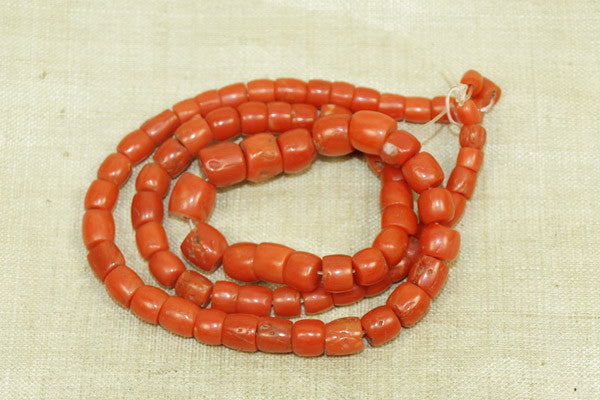 Lovely Strand of rare Antique Yemeni Coral Beads