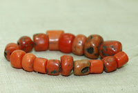 Strand of Small, Gorgeous Berber Red Coral Beads