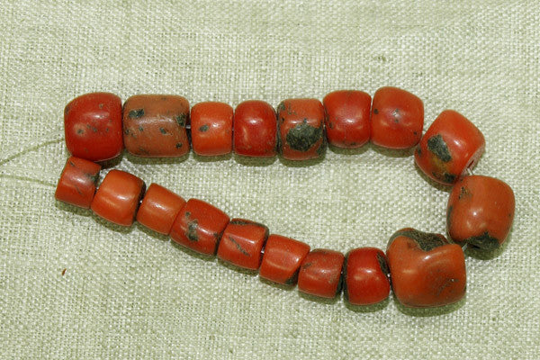 Antique Berber Red Coral Beads