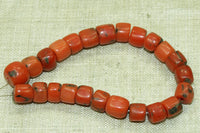 24 Small Rare Berber Red Coral Beads